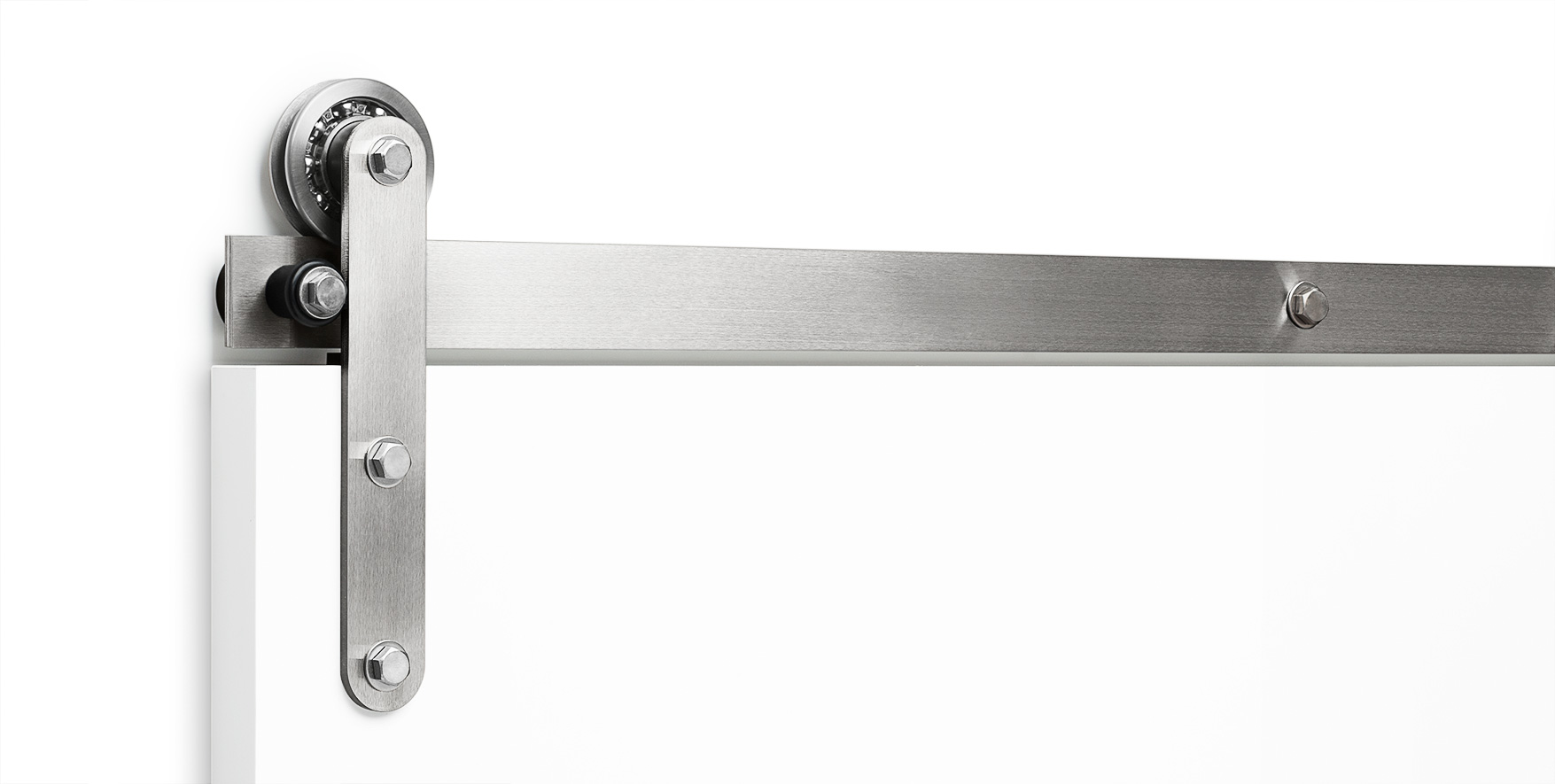 Axel Flat Track Sliding Barn Door Hardware In