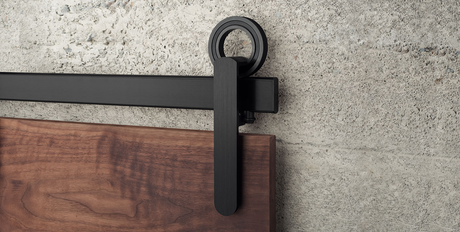 Modern Barn Door Hardware Featuring Hubless Bearings| Baldur by ...