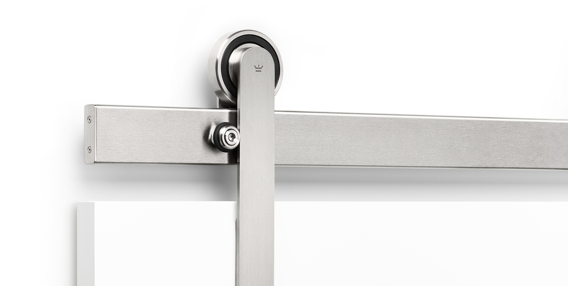 Oden-brushed-stainless-sliding-door-track-and-mounting-system
