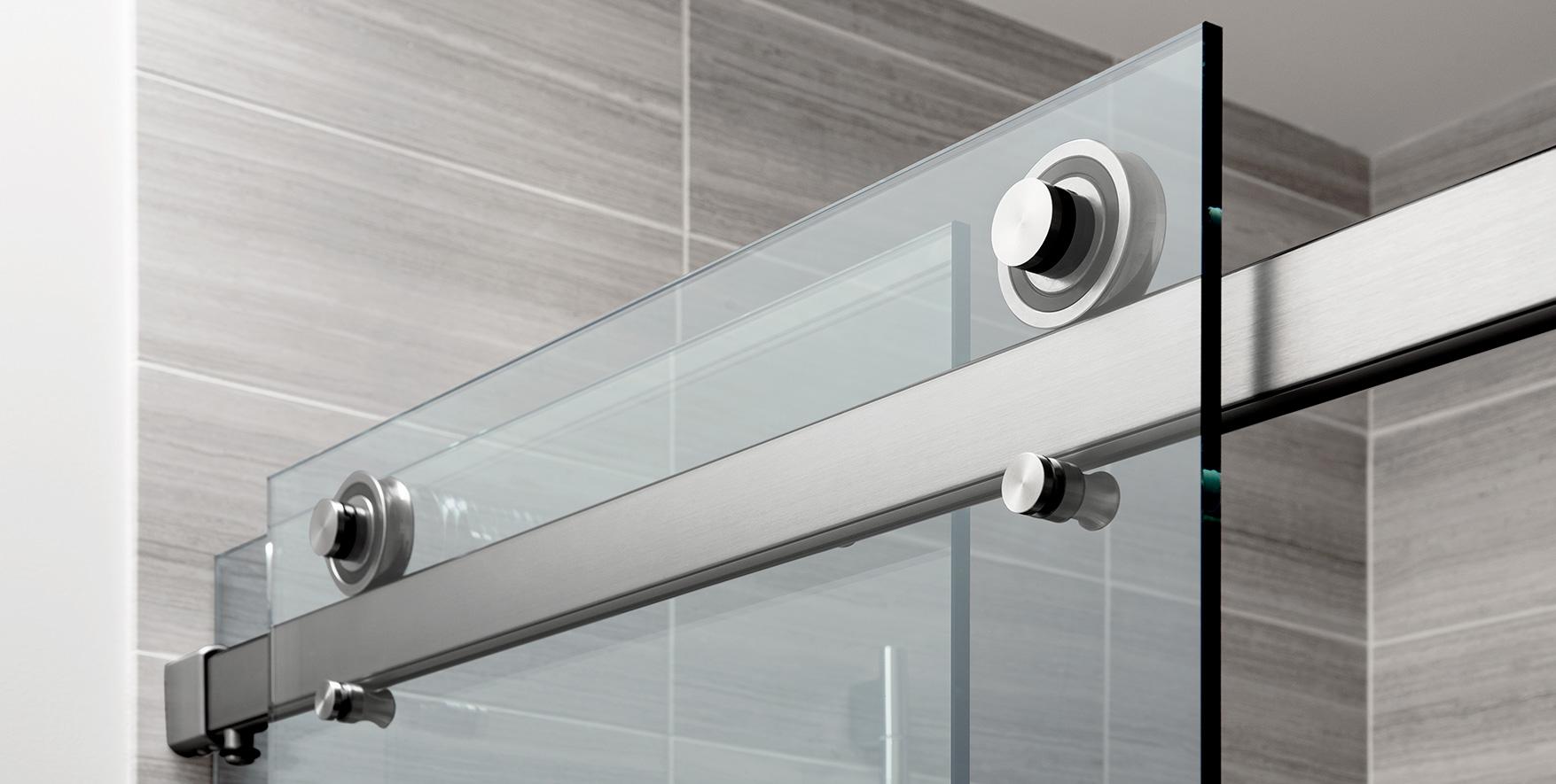 Glass Enclosed Sliding Door Shower System Alcove Installation In  Doppelgänger Haus