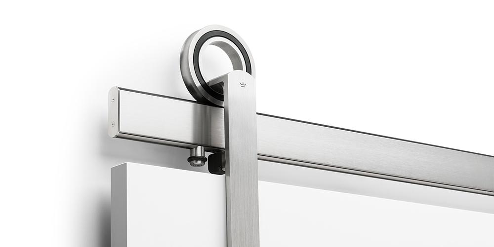 Modern Barn Door Hardware Featuring Hubless Bearings Baldur