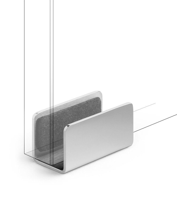 ... Polished Stainless Polished Stainless  sc 1 st  Krownlab & Modern Barn Door Guides and Accessories | Krownlab